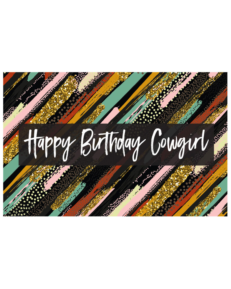 Boot Barn® Happy Birthday Cowgirl Gift Card, No Color, hi-res