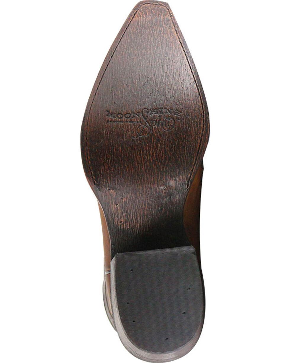 Moonshine Spirit Men's Eagle Overlay Western Boots, Brown, hi-res