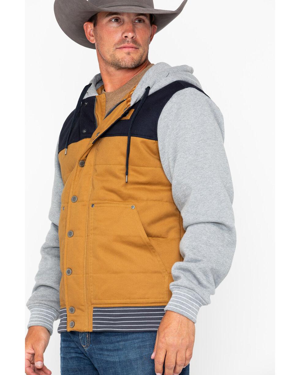 Cinch Men's Cotton Canvas Hoodie Jacket, Burgundy, hi-res