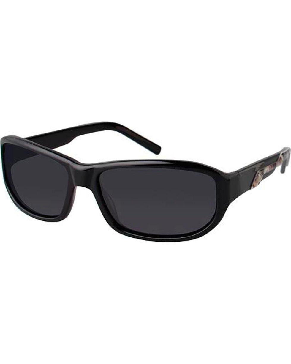 Realtree Men's Black Max-4 Camo Sport Polarized Lens Sunglasses , Black, hi-res