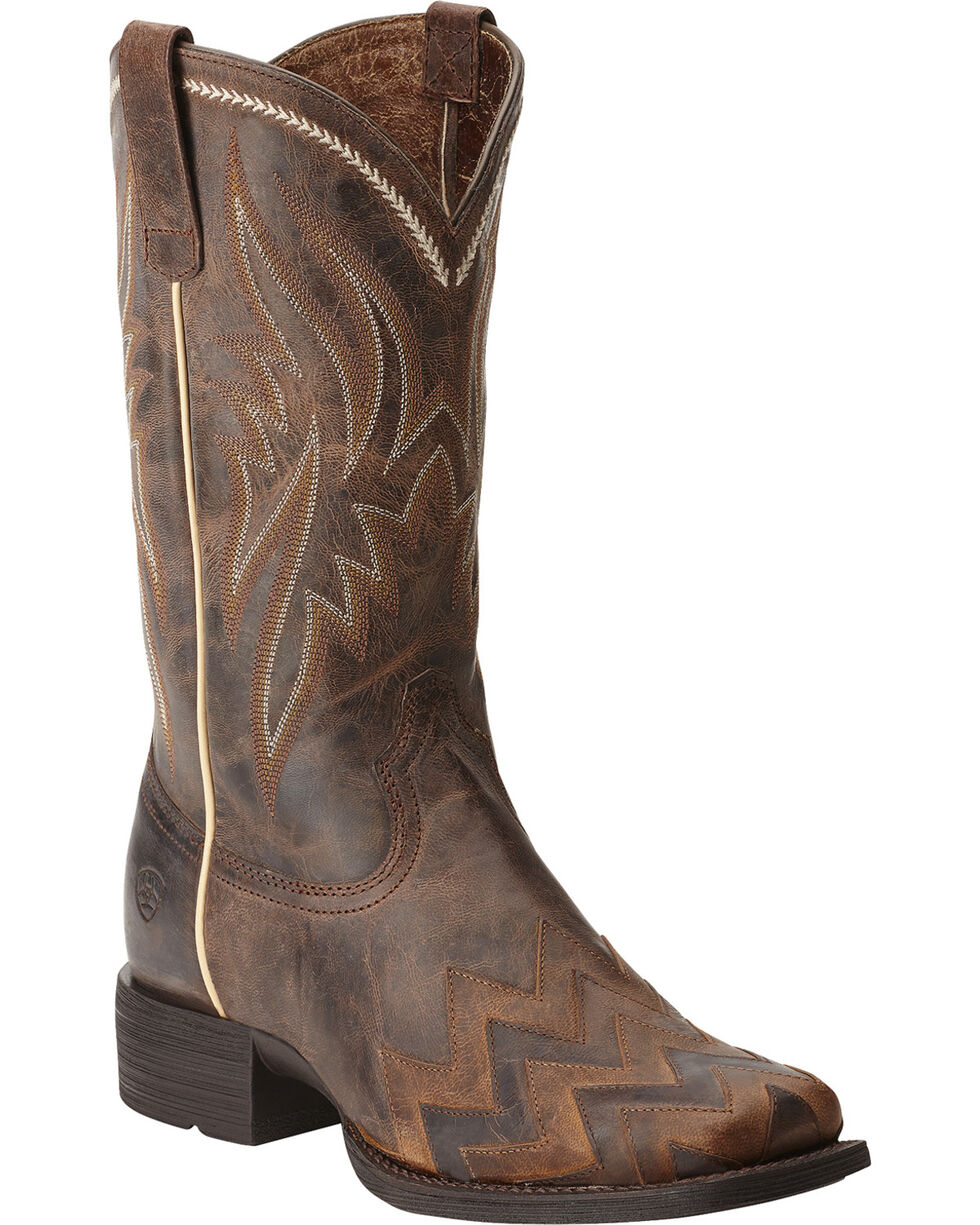 Ariat Women's On Point Overlay Western Boots, Brown, hi-res