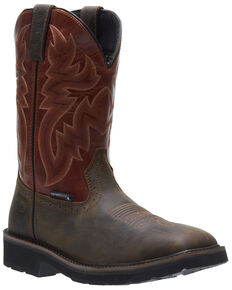 Wolverine Men's Rancher Waterproof Western Work Boots - Soft Toe, Rust Copper, hi-res