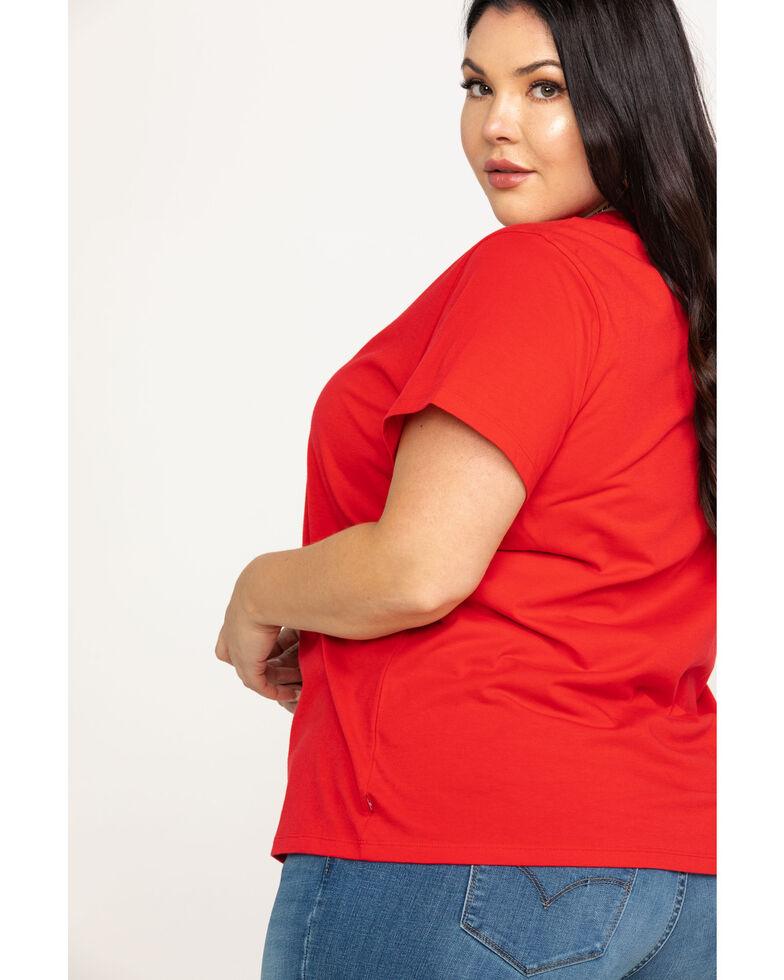Levi's Women's Brilliant Red Perfect Tee - Plus, Red, hi-res