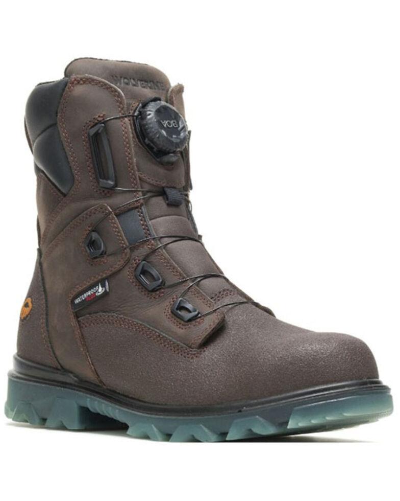 Wolverine Men's EPX Boa Waterproof Work Boots - Steel Toe, Dark Brown, hi-res