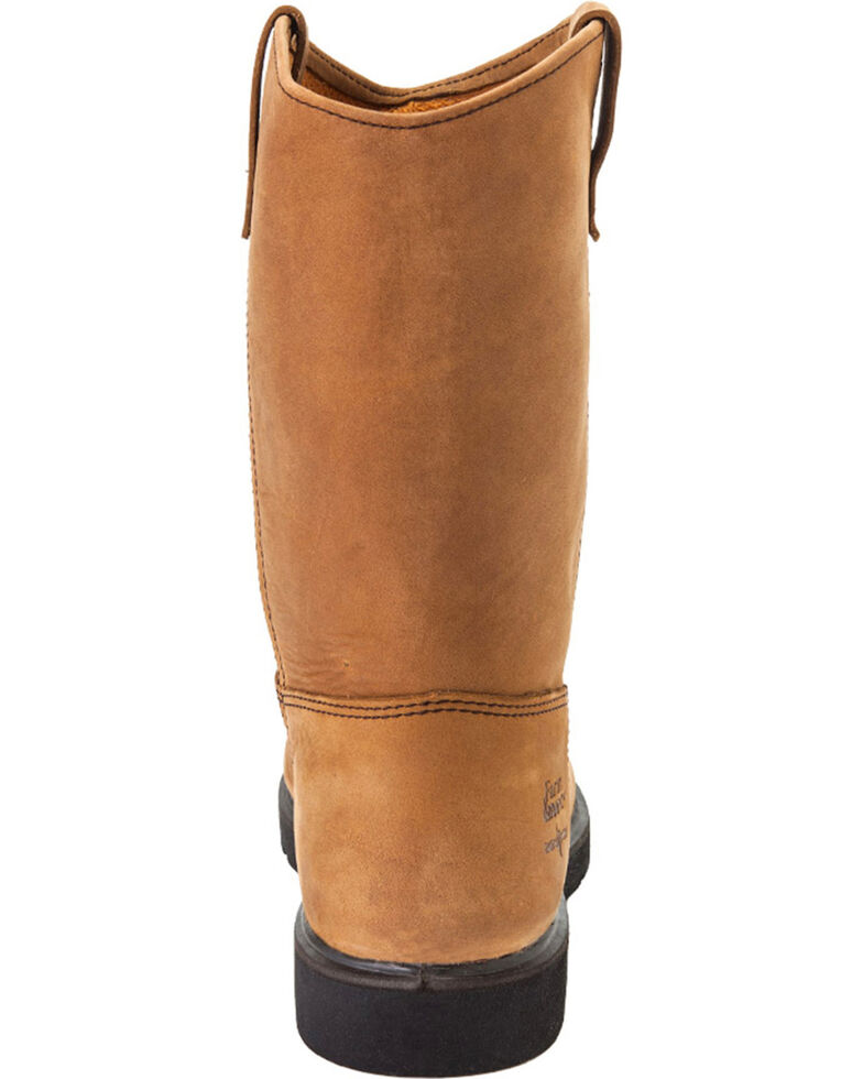 Georgia Men's Farm & Ranch Wellington CC Work Boots, Tan, hi-res