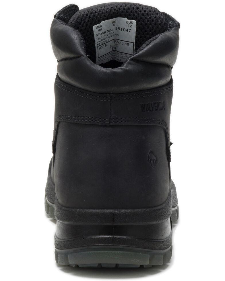 Wolverine Men's Ramparts Work Boots - Composite Toe, Black, hi-res