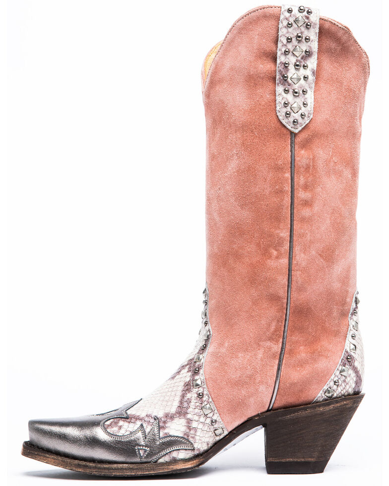 Idyllwind Women's Leap Western Boots - Snip Toe, Blush, hi-res