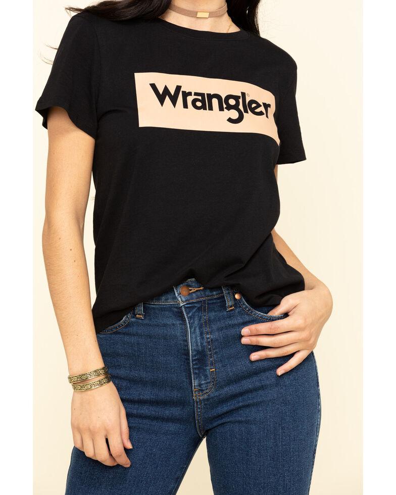 Wrangler Modern Women's Black Logo Tee, Black, hi-res