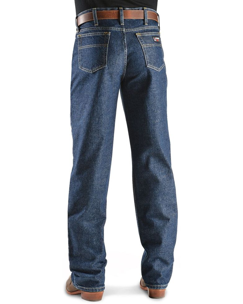 Cinch ® Men's White Label Fire Resistant Work Bootcut Jeans, Denim, hi-res