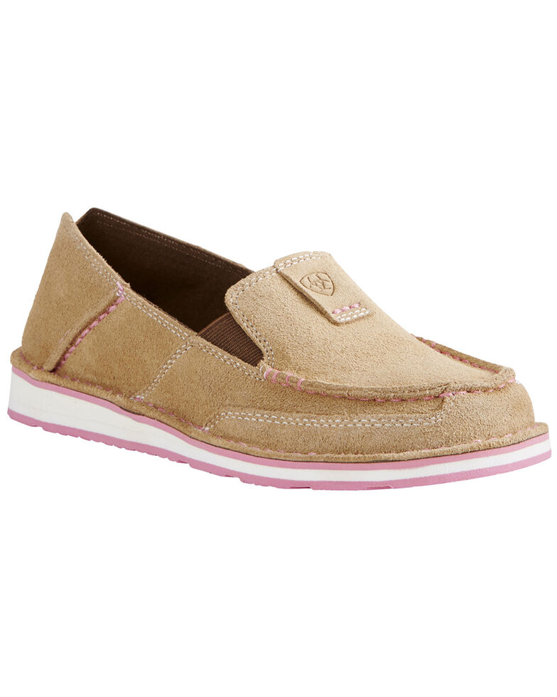 Ariat Women's Moc Toe Cruiser Shoes, Taupe, hi-res