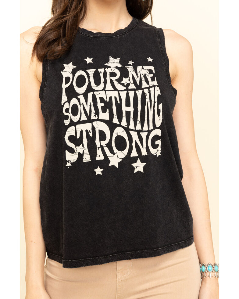 White Crow Women's Pour Me Something Strong Graphic Tank Top, Black, hi-res