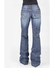 Stetson Women's Blue 214 Trouser Fit Jeans, Blue, hi-res