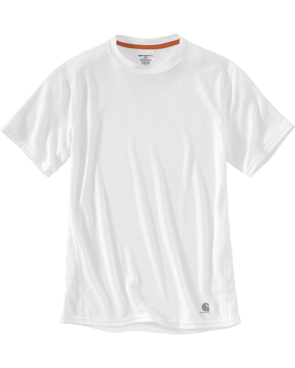 Carhartt Men's Base Force Extremes Lightweight Short-Sleeve T-Shirt , White, hi-res