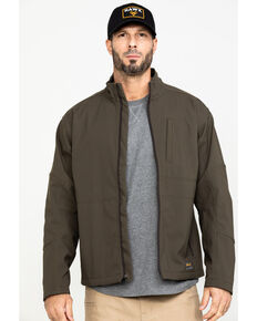 Ariat Men's Rebar Stretch Canvas Softshell Work Jacket , Loden, hi-res