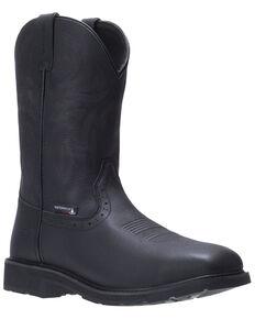 Wolverine Men's Rancher Western Work Boots - Soft Toe, Black, hi-res