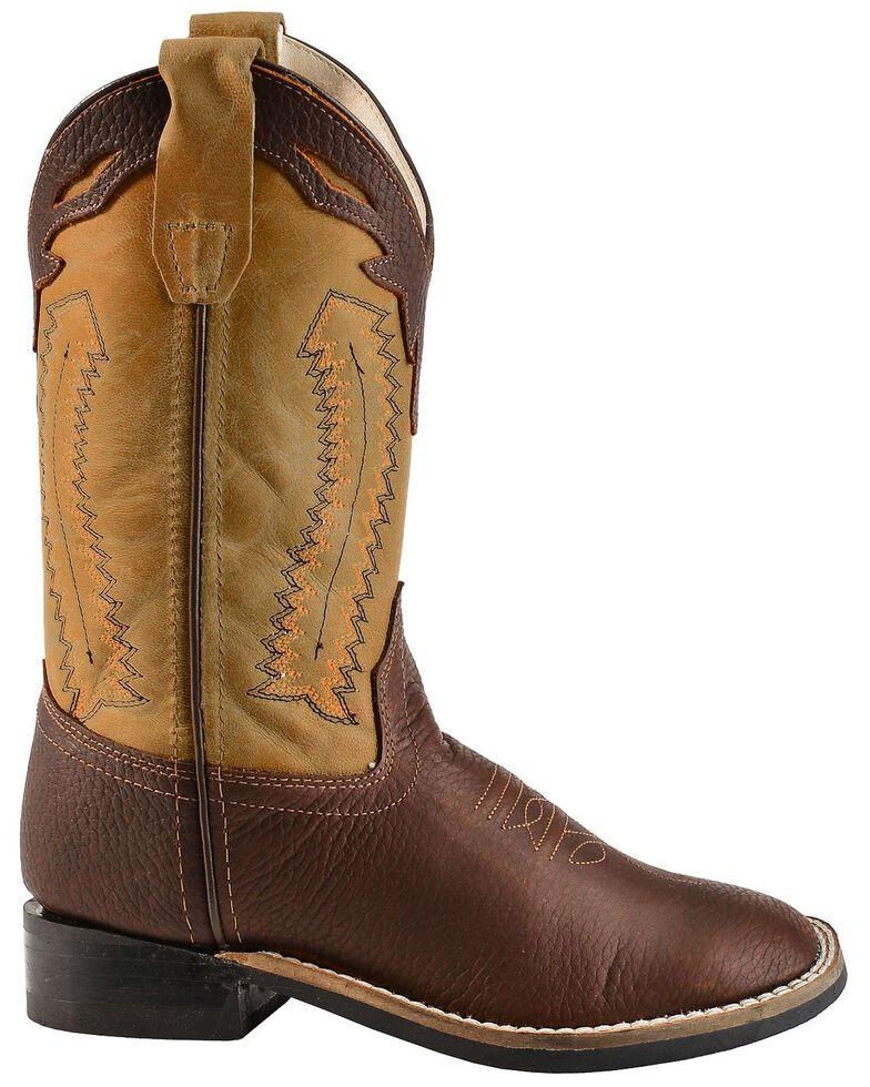 Jama Children's Ultra-Flex Square Toe Western Boots, Oiled Rust, hi-res