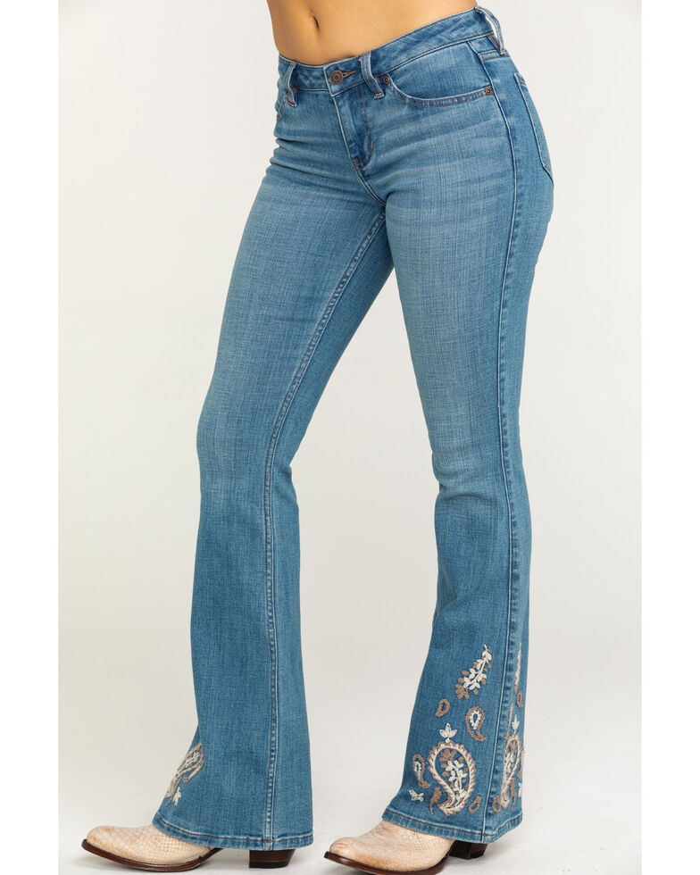 Idyllwind Women's Paisley Party Bootcut Jeans, Blue, hi-res