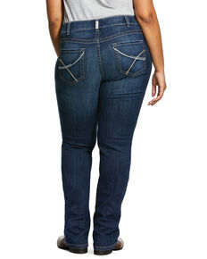 Ariat Women's Medium R.E.A.L. Rookie Straight Jeans - Plus, Blue, hi-res