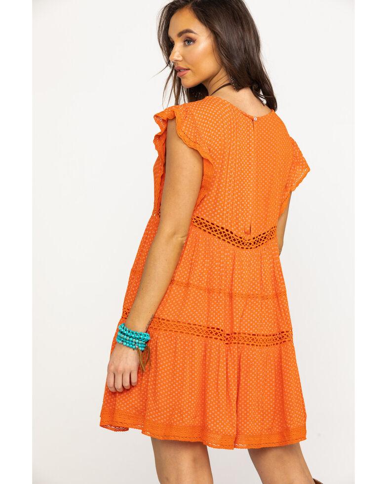 Free People Women's Retro Kitty Dress, Orange, hi-res