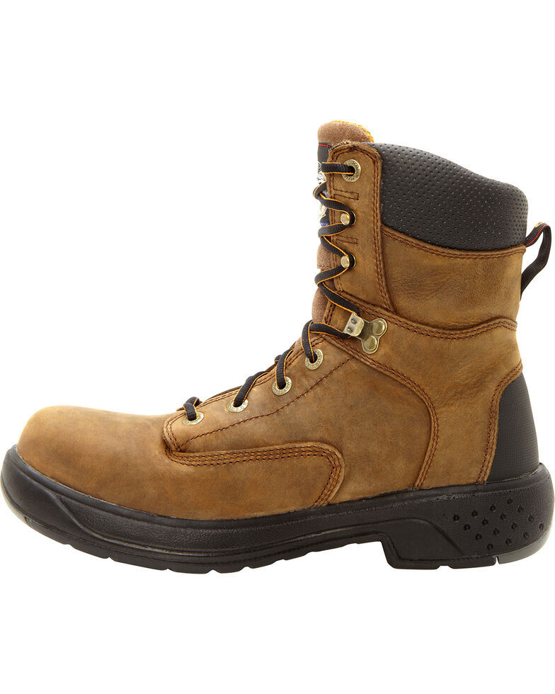 Georgia Flxpoint Waterpoof Boots - Safety Toe, Brown, hi-res