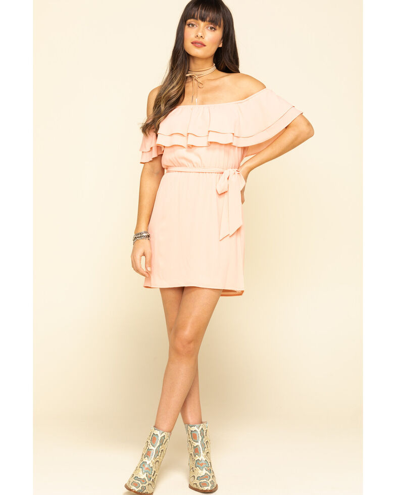 Show Me Your Mumu Women's Peach Rosie Mini Dress, Peach, hi-res