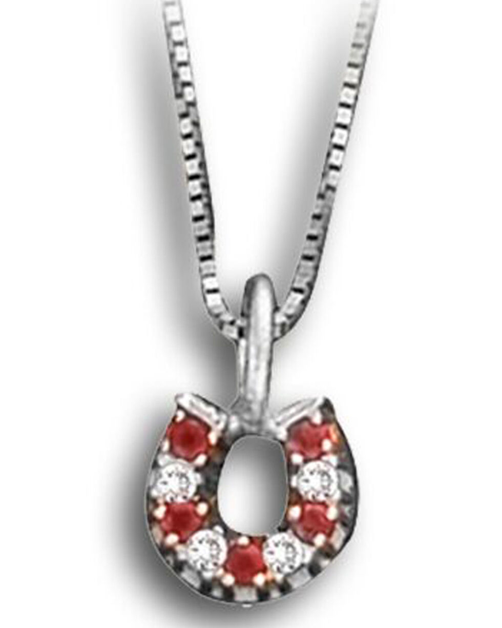 Kelly Herd Women's Red Horseshoe Necklace, Red, hi-res
