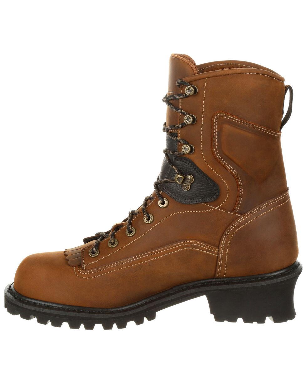 Rocky Men's Sawblade Waterproof Logger Work Boots - Round Toe, Russett, hi-res