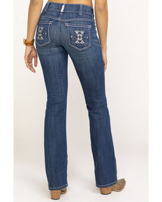 Ariat Women's August Aztec R.E.A.L. Boot Cut Jeans , Blue, hi-res