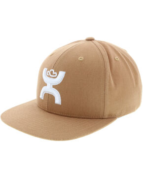 HOOey Men's Buckskin Tan Trucker Cap, Tan, hi-res