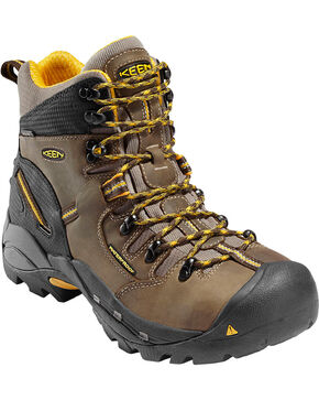 Keen Men's Electrical Hazard Protection Steel Toe Work Boot, Brown, hi-res