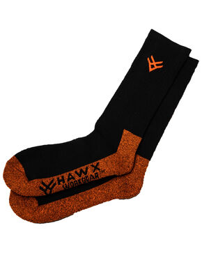 Hawx® Men's 2 Pack Steel Toe All Season Socks, Black, hi-res