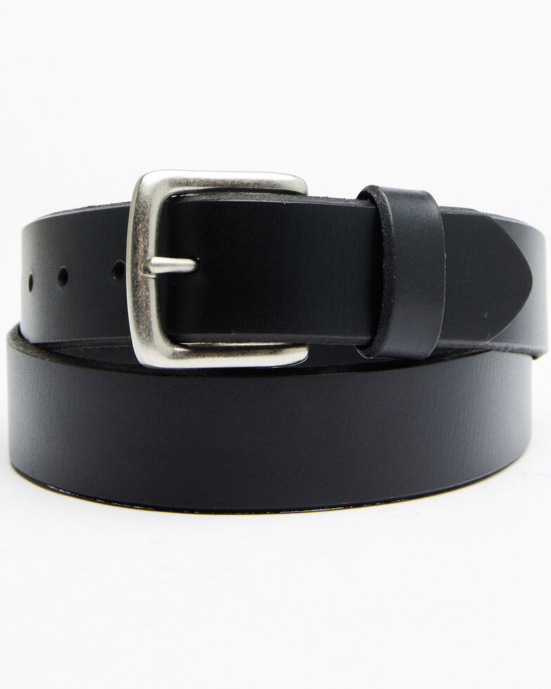 Hawx Men's English Bevel Work Belt, Black, hi-res