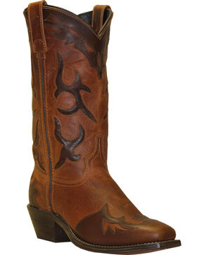 "Abilene Women's 11"" Two-Tone wingtip Western Boots, Brown, hi-res"