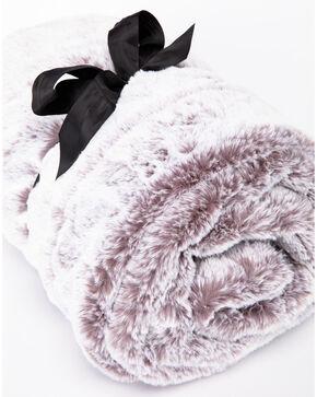 BB Ranch Grey Faux Fur Throw Blanket, Grey, hi-res