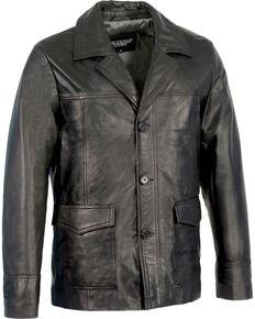 Milwaukee Leather Men's Leather Car Coat Jacket , Black, hi-res