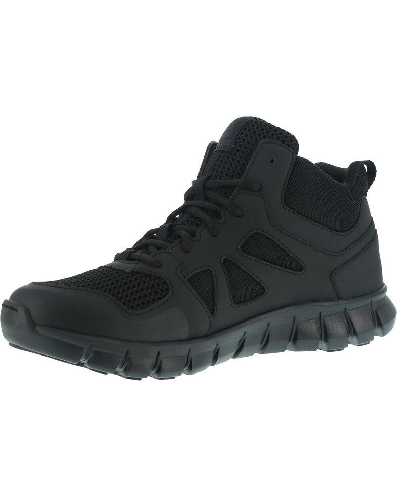 Reebok Men's Sublite Cushion Tactical Mid Shoes - Soft Toe , Black, hi-res