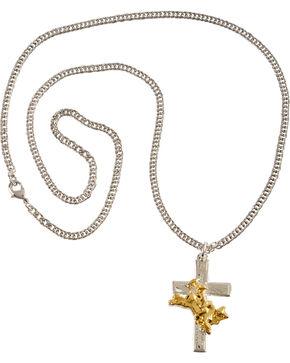Montana Silversmiths Men's Bullrider Cross Necklace, Silver, hi-res