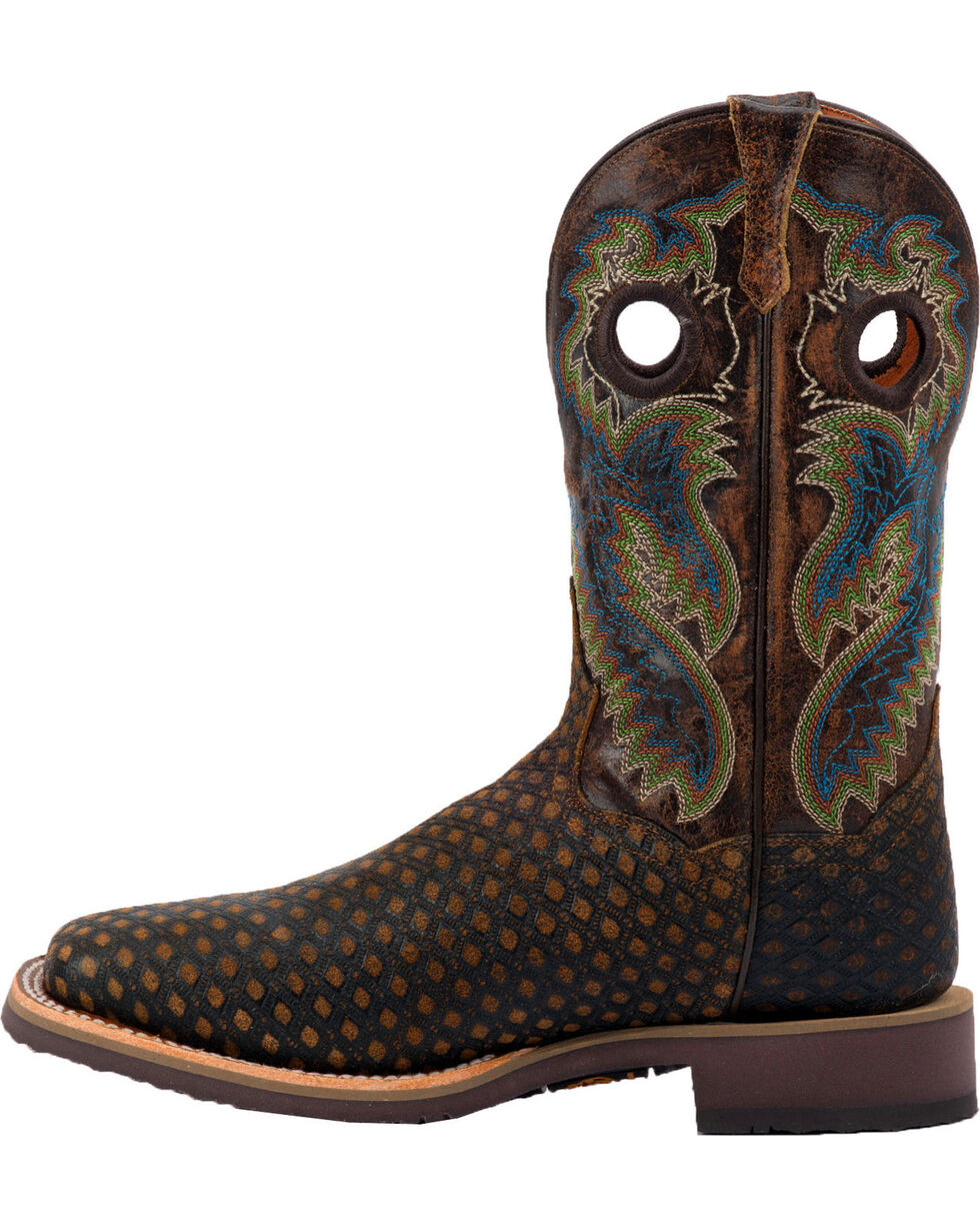 Dan Post Men's Boss Cowboy Boots - Square Toe, Brown, hi-res