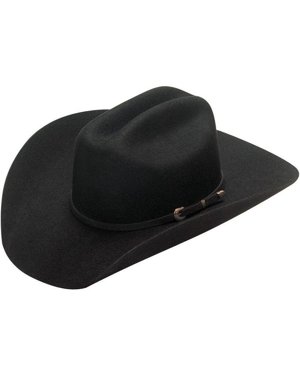 Twister Dallas 2X Wool Cowboy Hat, Black, hi-res