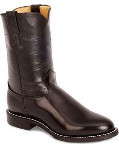 Justin Men's Roper Boots, Black, hi-res