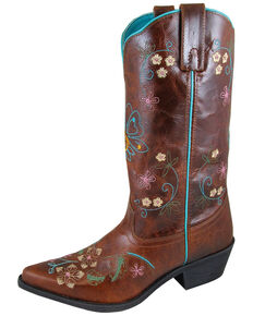 Smoky Mountain Women's Florence Western Boots - Snip Toe, Brown, hi-res
