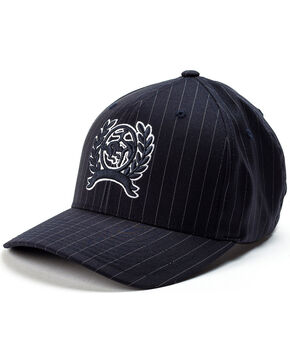 Cinch Men's Mid Profile Pinstripe Cap, Navy, hi-res