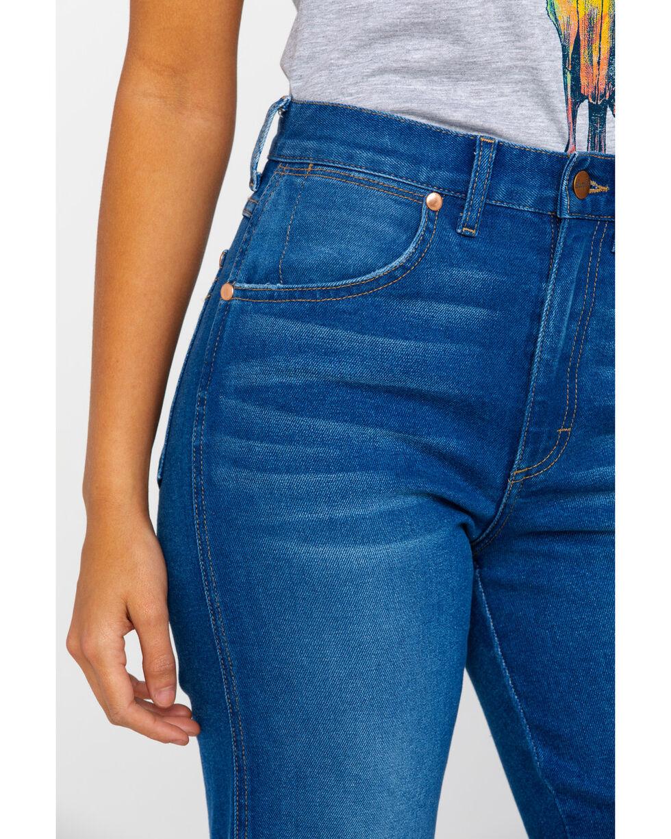 Wrangler Women's Blue Lagoon Hertiage High Rise Crop Jeans , Blue, hi-res