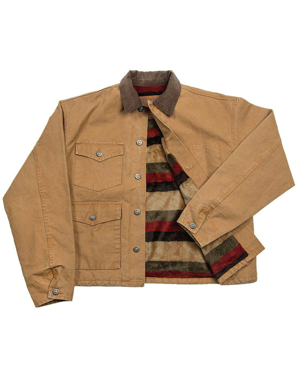 Schaefer Outfitter Men's Saddle Blanket Lined Vintage Brush Jacket - Big 2X, Brown, hi-res