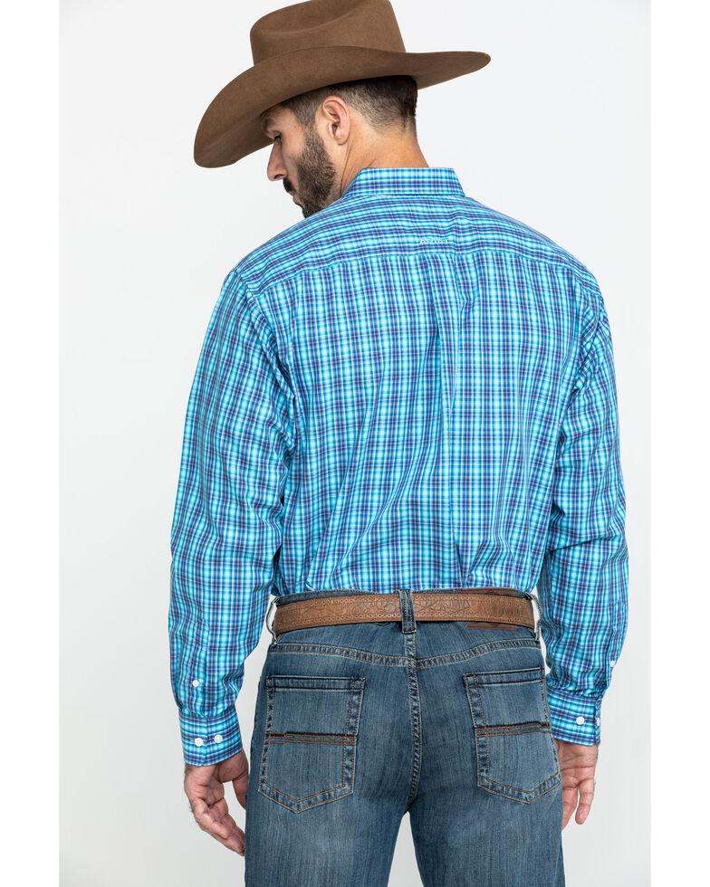 Ariat Men's Wrinkle Free Pelham Small Plaid Long Sleeve Western Shirt - Tall , Multi, hi-res