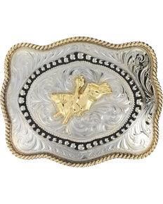 Cody James® Men's Bull Rider Belt Buckle, Silver, hi-res