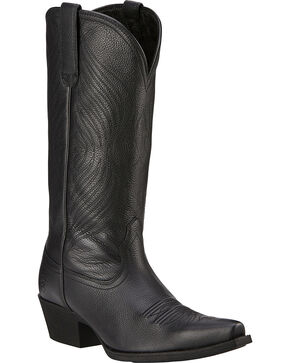Ariat Women's Round Up X Toe Western Boots, Black, hi-res