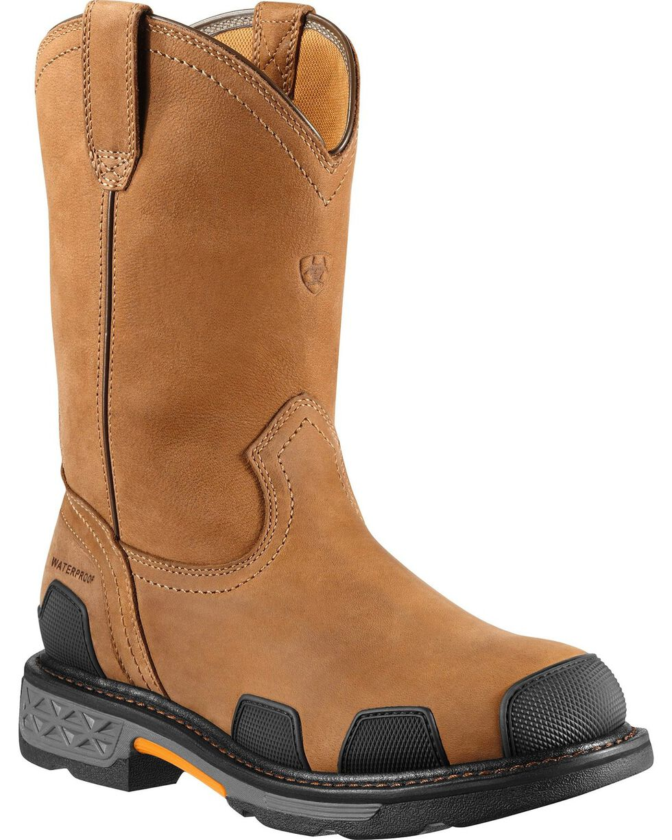Ariat Men's Overdrive Composition Toe Western Work Boots, Dusty Brn, hi-res