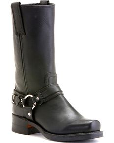 "Frye Women's Belted Harness 12"" Motorcycle Boots, Black, hi-res"