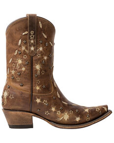 Junk Gypsy by Lane Women's Starstruck Western Booties - Snip Toe, Tan, hi-res